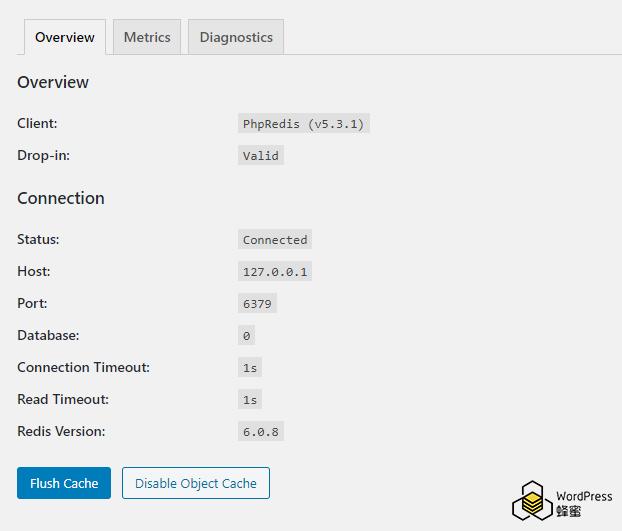 WordPress配置Redis缓存加速教程